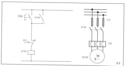 I comandi on off di tipo elettrico for Teleruttore schema