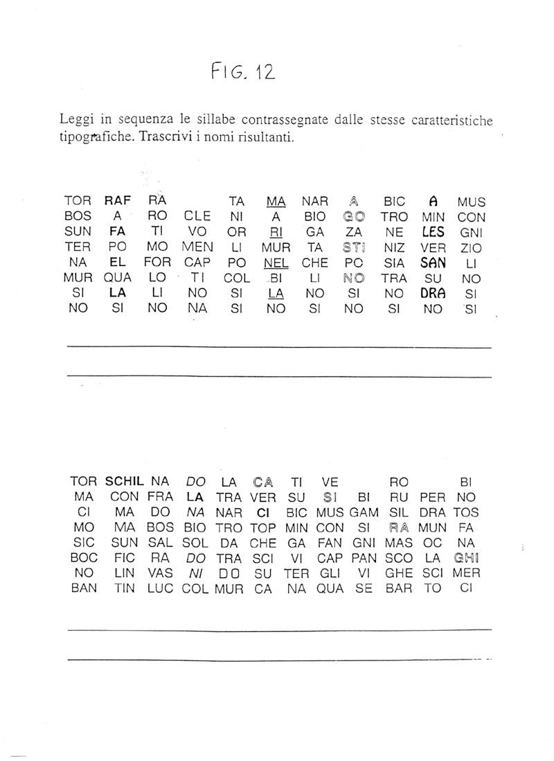 Immagini parole con b indice schede for Baby flash italiano doppie